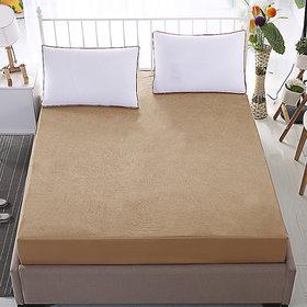 Dream Care Waterproof  Dustproof  Beige Mattress protector(42x78x Skirting  Upto 10) (wxl) for Singe bed-1 pc