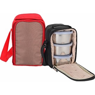 Calvy C-120 Surprise Lunch box with 3 Container 1 Bag
