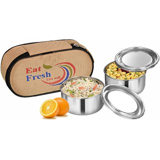 Calvy C-126 Eat Fresh Lunch box with 2 Container with bag