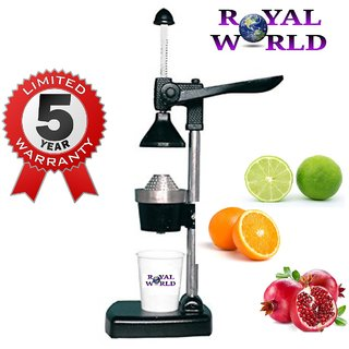 Royal world aluminium hand press juicer with 5 years warranty