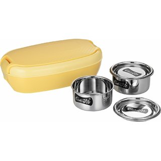 Calvy C-102 Hot Meal Insulated Tiffin Lunch box with 2 Container