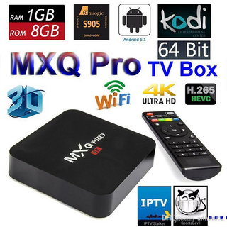 MXQ PRO 4K Ultra HD Android TV Box 1GB RAM 8GB ROM Amlogic S905 Quad Core 1.20 Ghz CPU