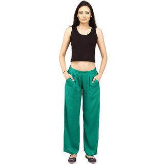 CHINMAYA Regular Fit Women's Dark Green Trousers