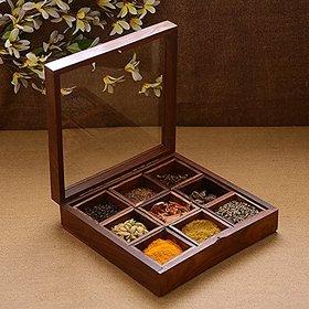 Desi Karigar Wooden Utility / Masala Box