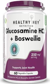 HealthyHey Nutrition Glucosomine HCL + Boswellia - Support Joint Health - 1000MG - 60 capsules