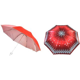 Lavennder Unisex 3 Fold Umbrella-Pack of 2