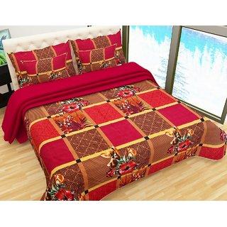c47d7966e95 Buy IDOLESHOP Polycotton Double 3D Printed Bedsheet(1 Bedsheet   2 Pillow  Cover