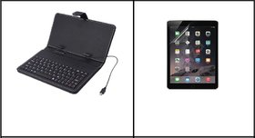 NIPSER 8 inch Tablet PC Keyboard + 8 inch Screen Protector