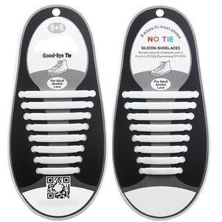 CrownLits Unisex 16 Pcs/Set No Tie Shoe LACES with Night Glow