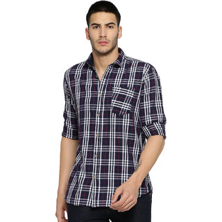 Campus Sutra Men's Blue Casual Shirt