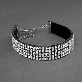 JewelMaze Austrian Stone Silver Plated Bracelet-1403001A