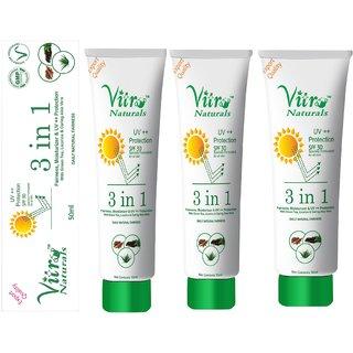 3 in 1 Cream 50 ml Set of 3  (Fairness, Moisturizer  UV++ Protection)