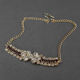 JewelMaze Red Austrian Stone Gold Plated Bracelet-1401701