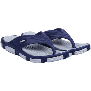 Edee Relax Blue Rubber EVA Casual Slippers For Men