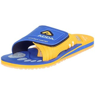 Adda Comfortable Yellow Color Slippers For Men