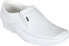 White Formal Leather Shoes For Men