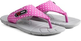 ADDA COMFORTABLE GREY / PINK  COLOR FLIPFLOPS FOR WOMEN