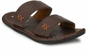 Fentacia Men Brown Dual Strapped Sandals