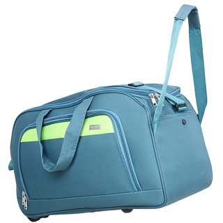 85392137fd Buy Travel Soft Case Luggage Bag Green Duffel Bag For Holiday 2 Wheels  Traveling Bag 24 INCH -113 Online - Get 50% Off