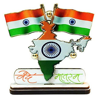 STAR SHINE Multicolor Indian Car Dashboard VANDEMATRAM flag For Tata Safari 1998