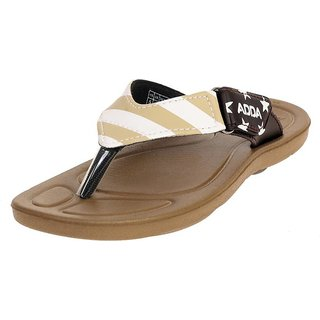 aedfc17360aa0e Buy ADDA COMFORTABLE BROWN  BEIGE COLOR FLIPFLOPS FOR WOMEN Online   ₹375  from ShopClues