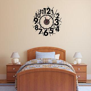 DIY Wall Clock 3D Sticker Home Office Decor 3D Wall Clock (Covering Area5555cm) - DIYCD814
