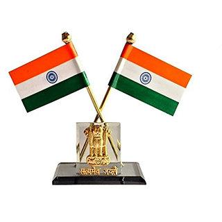 STAR SHINE Multicolor Indian Car Dashboard SATYAMEV JAYTE WITH SMALL GOLDEN ASHOK For Hyundai Verna Fludic 2013