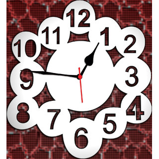 3d mirror number shape wall clock non ticking and silent
