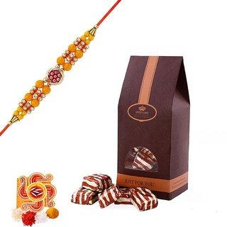 Rakshabandhan Assorted Chocolate Hamper With Designer Rakhi