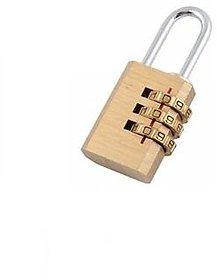 3 Digit Metallic Number Lock Small Bag Lock Travel Lock Luggage Re-Settable Password Locks Combination Padlock-LOCKCR404