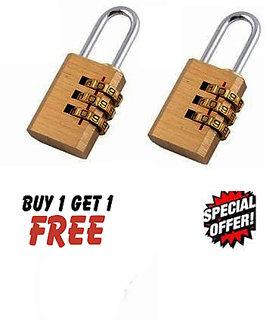 Buy 1 Get 1 Free! 3 Digit Metallic Number Lock Small Bag Lock Travel Lock Luggage Re-Settable Password Locks Combination
