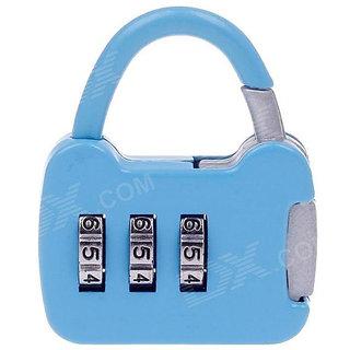 buy 3 digit metallic number lock small bag lock travel lock luggage