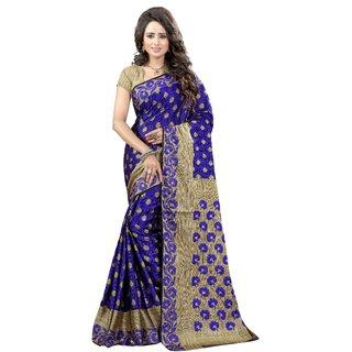 e02e908a3d Buy Fab Brand Multi Colour Banarasi Silk Saree Online - Get 72% Off