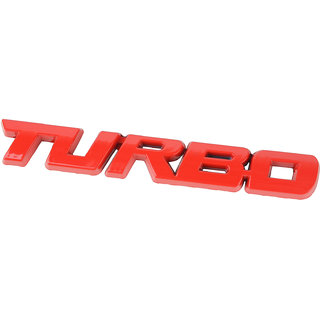 DY Luxury Turbo Bodyside Trunk Metal Fender Badge Emblem Logo Decal for All Cars