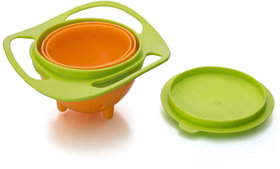 Gkart Revolving Lunch Box 360 Degree Rotates  Baby Bowl   Green  1 Containers Lunch Box  360 ml