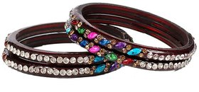 JP Bangles Glass Bangle set for Women- Set of 4
