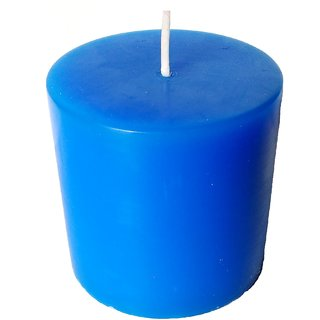 Kesar Zems Scented Pillar Candle Blue