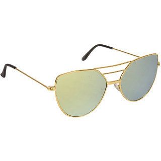 2f657e105d13 Buy Arzonai Classy Mirrored Square Shape Gold-Yellow UV Protection  Sunglasses For Women  MA-033-S2   Online - Get 84% Off