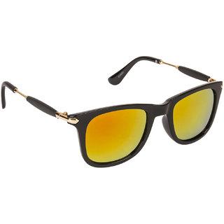 ba827e95215 Arzonai Stone Boss Mirrored Wayfarer Shape Black-Orange UV Protection  Sunglasses For Men   Women