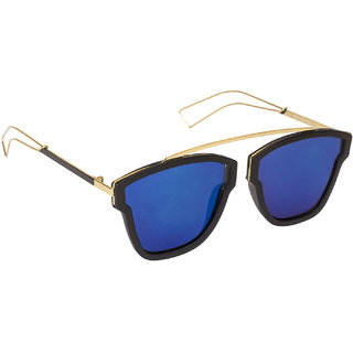 Arzonai Commuter Square Shape Black-Blue UV Protection Sunglasses For Men & Women [MA-307-S4 ]
