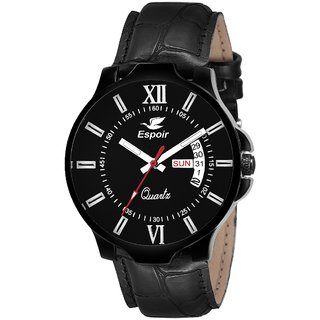 Espoir Analogue Black Dial Day and Date Boy's and Men's Watch - Booker0507