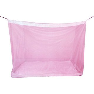 pink double bed mosquito net