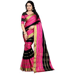 b9f54479aeaaae Buy Valeria Striped Fashion Tussar Silk Saree Online - Get 67% Off
