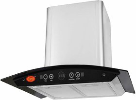 Surya Xifo Auto Clean Kitchen Chimney (RangeHood) with Hand Wave Sensor, Auto Clean, Gas Sensor, Aluminum Filter  Touch Panel in Stainless Steel