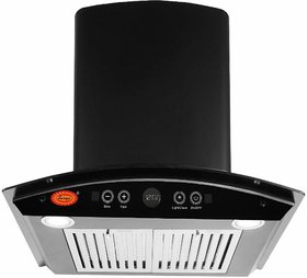 Surya TD-1400 M3 Auto Clean Kitchen Chimney (RangeHood) with Hand Wave Sensor, Auto Clean, Gas Sensor, Baffle Filter  Touch Panel in Black Stainless Steel