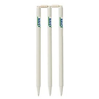 Navex White Cricket Stumps With Bails (2 Pieces) set