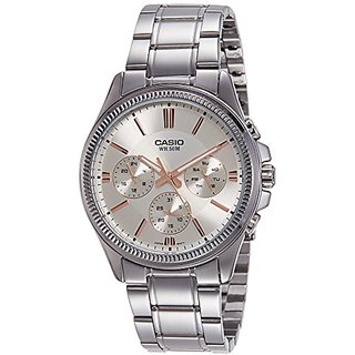 Casio Enticer Analog White Dial Mens Watch-MTP-1375D-7A2VDF (A1078)