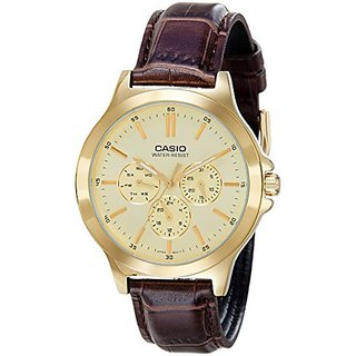 Casio Analog Gold Dial Mens Watch-MTP-V300GL-9AUDF (A1175)