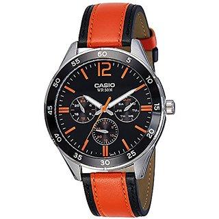Casio Enticer Analog Black Dial Mens Watch-MTP-E310L-1A2VDF (A1179)