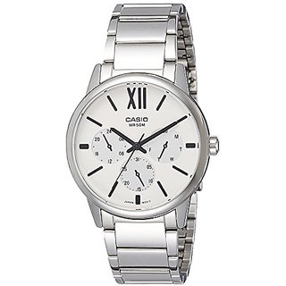 Casio Enticer Analog White Dial Mens Watch-MTP-E312D-7BVDF (A1203)